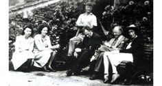 Kurt Schwitters and those he lived and worked with on Cylinder Farm, Ambleside.