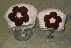 Mom and Daughter set of crochet beret hats