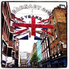 #carnabystreet floating #unionjack #london #2013 #celebrations #England #GreatBritain #kookylondon #londonist #timeoutlondon #history get the #iPhone #App here  https://itunes.apple.com/gb/app/kooky-london/id625209296?mt=8