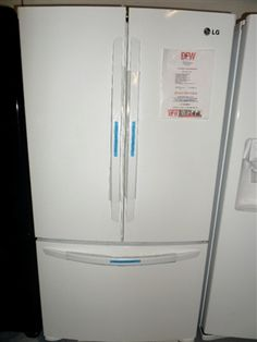 White LG French Door Fridge LFC25776W only $1100! French Door Refrigerator, Food For Thought, French Doors, Kitchen Appliances, Diy Kitchen Appliances, Home Appliances, Domestic Appliances