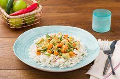 Cremiges Thai-Gemüse-Curry mit Kokosmilch und Basmatireis Rezept | HelloFresh