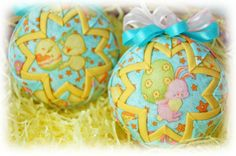 Easter quilted balls