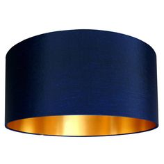 Handmade Gold Lined Lampshade Midnight Blue - for the living room, which i want to be dramatic in Navy and yellow with grey. cant decide between the colours.