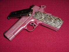 Pink and python.  Nice combo!
