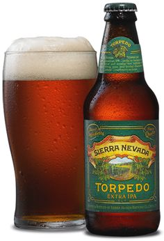 "Torpedo Extra IPA | Sierra Nevada: A ""Hop Torpedo"" indeed! Citrus, super piney, and tropical. Includes the much-raved-about Citra hop. LOVE this beer!"