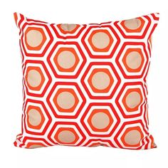 Image of The Orange Polygon Cushion Cover (45cmx45cm)
