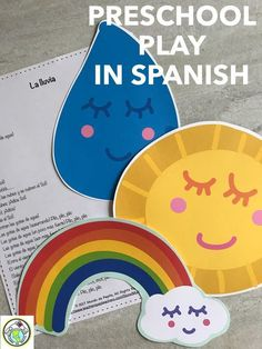 Plays are a super fun way for preschool students to learn Spanish! We've included props (stick puppets, masks, etc) to go along with the THREE simple scripts, la La lluvia, mimicking a rain storm, perfect for young learners! Mundo de Pepita, Resources for Teaching Spanish to Children #learnspanishforkidsteaching
