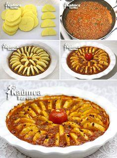 FIRINDA KIYMALI PATATES DİZMESİ TARİFİ http://kadincatarifler.com/firinda-kiymali-patates-dizmesi-tarifi