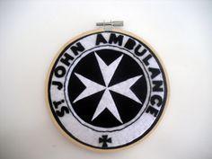 Tardis Logo from Doctor Who Embroidery Hoop. on Wanelo