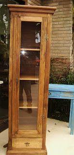 HERTZ Móveis Rústicos de Madeira de Demolição: Cristaleira 01 Porta madeira Araucária