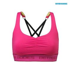44d0f0366aeac Better Bodies Athlete short top Hot pink
