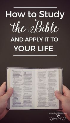 Quiet Time With God: A Series {Part 3: Bible Reading} - How to study the bible. Great tips!