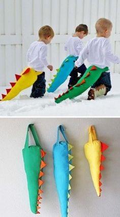 dinosaur tail! @Kim Wong, let's make this for poppy when he's older