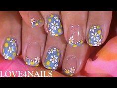 Fast n Easy Nail Art Design Tutorial For Summer - http://www.easy-nail-design-ideas.com/toe-nail-designs/fast-n-easy-nail-art-design-tutorial-for-summer/ #nail art