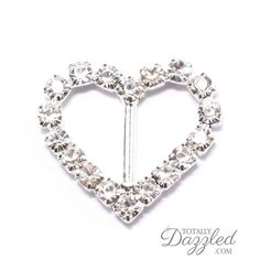 ALL HEART RHINESTONE SLIDER BUCKLE  Only $0.75 at totallydazzled.com! Come and see our whole catalogue of rhinestone products today! We'll dazzle you!