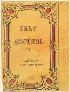 Alfred Crowquill | Cover Design for Self Control | Drawings Online | The Morgan Library & Museum