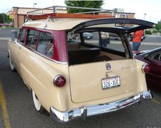 """1954 Ford """"Tudor"""" Wagon Maintenance of old vehicles: the material for new cogs/casters/gears could be cast polyamide which I (Cast polyamide) can produce Vintage Cars, Antique Cars, 1954 Ford, Ford Vehicles, Ford F Series, Old Fords, Henry Ford, Car Ford, Toy Trucks"""