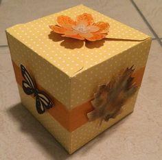 Stempeloase Dresden: Geschenkbox mit dem Geschenkbox-Punchboard von Sta...