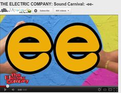 The Electric Company - Sound Carnival -ee- Phonics Videos, Phonics Song, Teaching Phonics, Phonics Activities, Kindergarten Literacy, Jolly Phonics, First Grade Phonics, First Grade Reading, Phonics Reading