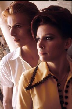 "David Bowie & Candy Clark in ""The Man Who Fell To Earth"", 1976."