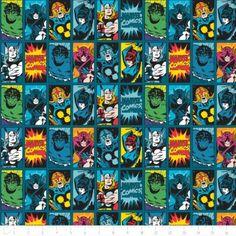 Marvel III Comic Book Heroes in Dark Teal