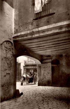 Plaça de la Llana, des del carrer Boquer. Barcelona. 1910.