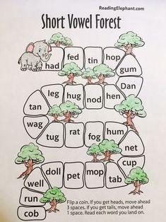 Short Vowel Sounds & Free Short Vowel Game - Reading Elephant