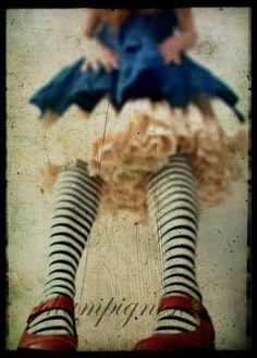 .striped tights