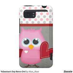 Valentine's Day Retro Owl HTC Vivid Cover