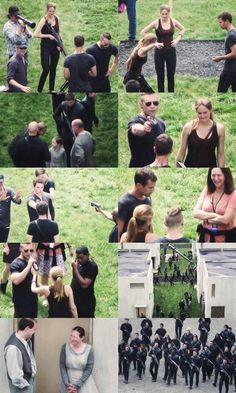 New pics from the set of DIVERGENT