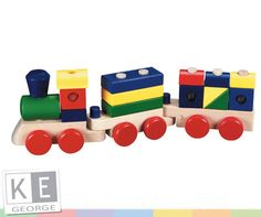 Melissa and Doug Wooden Stacking Train. Wooden toy train with a difference! Toddler fun stacking and building the wooden train. Buy now at The Toy Centre. Toys For Little Kids, Wooden Toys For Toddlers, Toddler Toys, Baby Toys, Kids Toys, Children Play, Children's Toys, Toddler Gifts, Toddler Activities