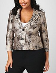 Looking for a striking update to your classic blazer? Look no further than our Sculpted Collar Jacket! This versatile style features a double collar with thin, flexible wire sewn right in, so you can create a unique look each time you wear it!