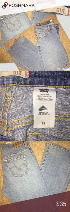 515 jeans boot cut size 4 Levi's 515 jeans boot cut size 4 boot cut leg great shape Levi's Levi's Jeans Boot Cut