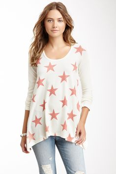 Long Sleeve Hankerchief Tunic Sweater by Go Couture on @HauteLook