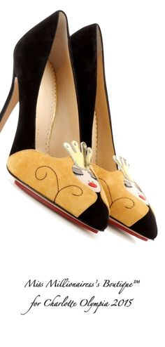 Charlotte Olympia 2015 'Sleeping Princess' Sueded Pumps - Miss Millionairess's Boutique™