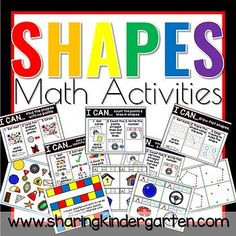 Shapes Math Activities - Sharing Kindergarten Learning Cards, Learning Shapes, Learning Resources, Teaching Ideas, 2d And 3d Shapes, Kindergarten, Primary Maths, Primary Classroom, Drawing Activities