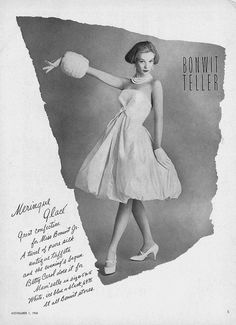 Bonwit Teller, November Vogue 1958
