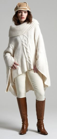 winter white sweater outfit