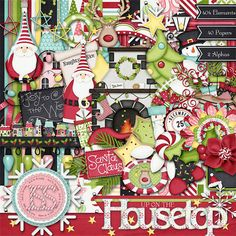 ChristmasHolidaySantaUp On The Rooftop Digi by JssScrapBoutique