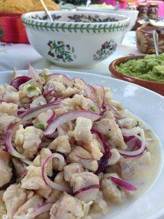 CEVICHE BLANCO DE LUBINA. (SEA BASS) #ceviche #fish #healthy #fresh #seabass