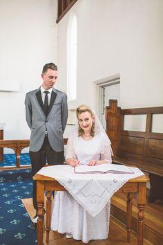 Tea Length Wedding Dress, Wedding Dresses, Vintage Groom, Rockabilly Wedding, Bride Groom, Real Weddings, 1950s, Wedding Inspiration, Inspired