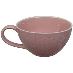 Tokyo Design Studio Textured Honeycomb Cappuccino Mug - Pink