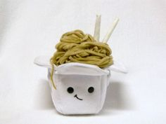 Pretend food plush toy take out box noodles door mamamayberrys
