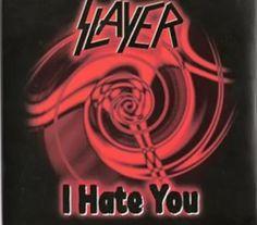 """RECENSIONE: SLAYER Singolo (( I Hate You )) In quello spaccato di anni Novanta che potrebbe definirsi la """" cover era"""", durante la quale i grandi nomi del Thrash si cimentavano ad omaggiare i grandi maestri dell'Hard N' Heavy, gli Slayer vanno ulteriormente a fondo con il singolo """"I Hate You"""", contenente l'omaggio dei thrasher californiani a due nomi storici dell'Hardcore statunitense. """" Cliccando sull' immagine si apre la recensione, buona lettura! (Michele Met Alluigi)"""