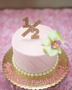Half Birthday Cake Topper For 6 Month