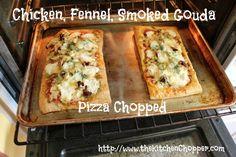 Pizza-Chopped-Fennel-chicken-pesto #vegetables #pizza @Kc Kahn