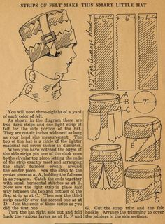 The Midvale Cottage Post: Home Sewing Tips from the 1920s - A Smart Little Hat
