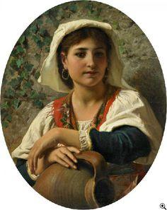 Luigi Bechi Ritratto di giovane ragazza italiana 1851