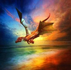 Soaring Dragon. Makes me think of Eustace in The Voyage of the Dawn Treader.