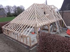 Pergola To House Attachment Building Structure, Building A House, Outdoor Pavillion, Roof Truss Design, Carpentry And Joinery, Gazebo Plans, Carport Designs, Wood Shingles, Pergola Patio